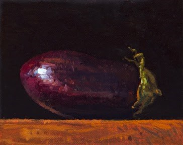 """Eggplant in Afternoon Light  (+ New Video; + Sedona Workshop)"" original fine art by Abbey Ryan"