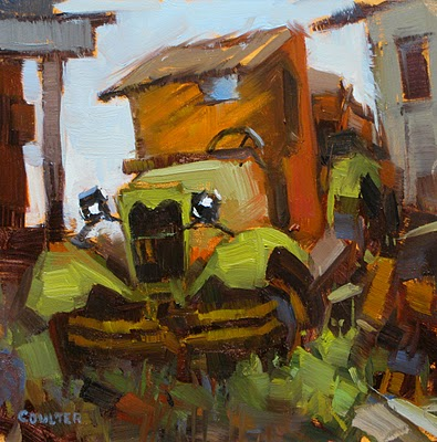 """""""1929 Ford AA C Cab"""" original fine art by James Coulter"""