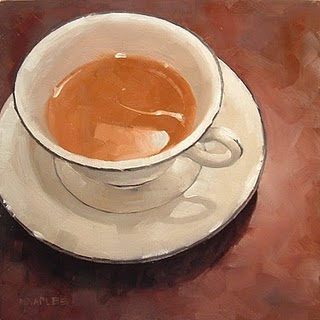 """After Dinner Coffee"" original fine art by Michael Naples"