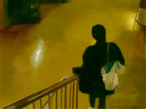 """THE DREAM - IN THE STATION"" original fine art by Nancy Herman"