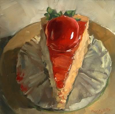 """Strawberry Cheesecake"" original fine art by Michael Naples"
