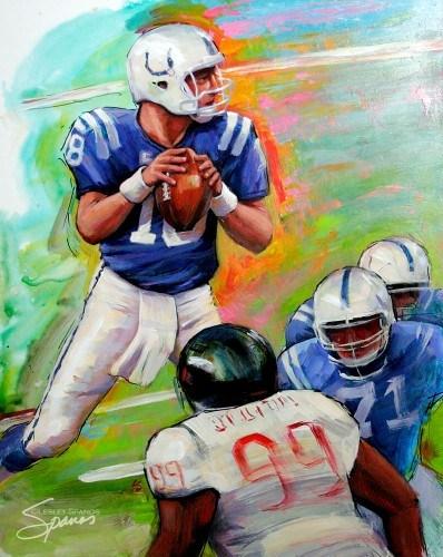 """18"" original fine art by Lesley Spanos"
