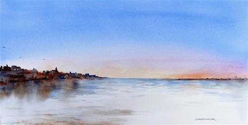 """Low Tide, Sunset"" original fine art by Judith Freeman Clark"