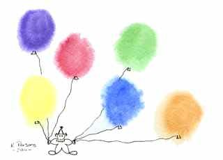 """Have Balloons, Will Entertain"" original fine art by Kali Parsons"
