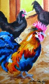 """Two and a Half"" original fine art by JoAnne Perez Robinson"