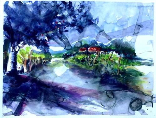 """""""1735 After the rain"""" original fine art by Dietmar Stiller"""