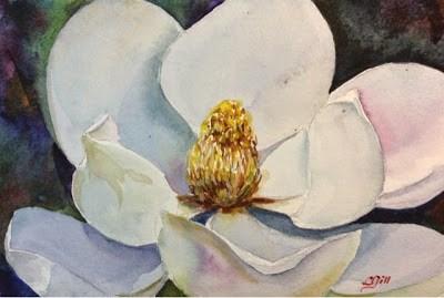 """Day 4 - Study in White 2"" original fine art by Lyn Gill"