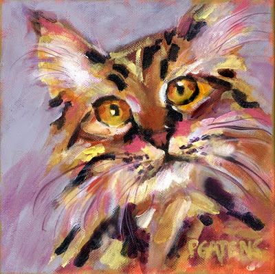 """Orange Bob"" original fine art by Pamela Gatens"