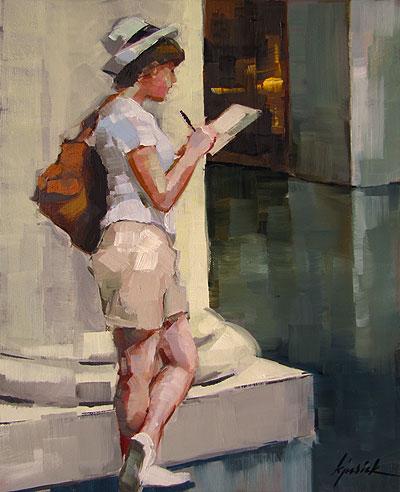 """Finishing Up Where I Left Off..."" original fine art by Karin Jurick"