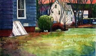 """Watercolor: Bulkhead"" original fine art by Belinda Del Pesco"