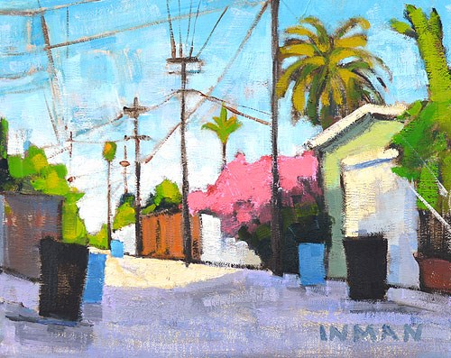 """""""South Park Alley"""" original fine art by Kevin Inman"""