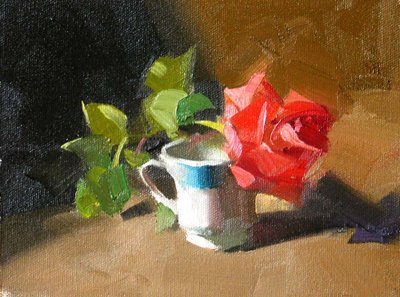 """""""Green and Red Balance"""" original fine art by Qiang Huang"""