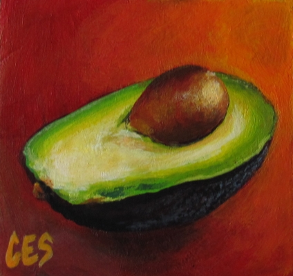 """Avocado"" original fine art by ~ces~ Christine E. S. Code"