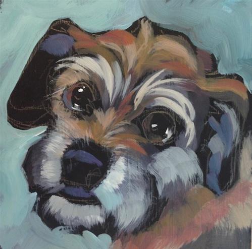 """Sally Schnoodle"" original fine art by Kat Corrigan"