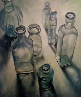 """""""Bottles (large version)"""" original fine art by Michael Naples"""