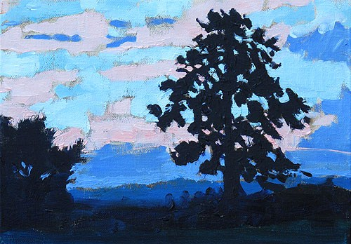 """Virginia Sunset"" original fine art by Kevin Inman"