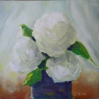 """Hydrangea 2"" original fine art by Maggie Flatley"