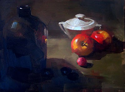 """In and out of shadow"" original fine art by Qiang Huang"