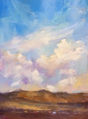 """Last Day in New Mexico....Painting Clouds"" original fine art by Karen Margulis"