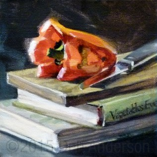 """""""Oil Painting: Vegetables Every Day, plus Art Post Gallery contest and a studio upgrade"""" original fine art by Deb Anderson"""