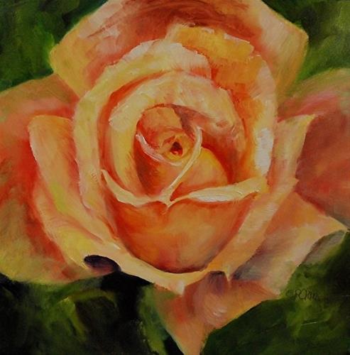 """Rose Joy, 8 x 8 Oil, Floral"" original fine art by Donna Pierce-Clark"