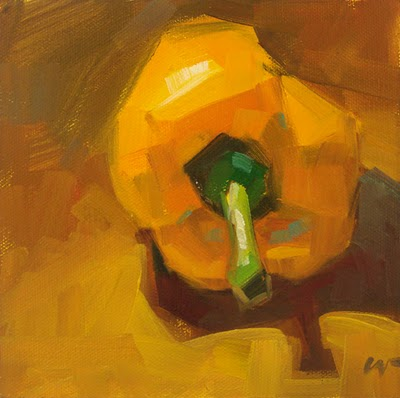 """Yellow Bell & demo --- SOLD"" original fine art by Carol Marine"