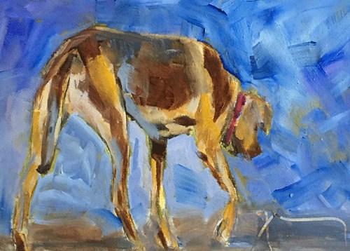 """Rhodesian Ridgeback"" original fine art by Gigi ."