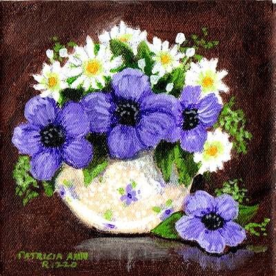 """Purple Flowers"" original fine art by Patricia Ann Rizzo"