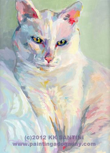 """Phoebe"" original fine art by Kimberly Santini"