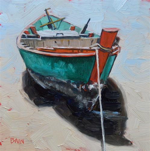 """""""Waiting for the Tide"""" original fine art by Peter Bain"""