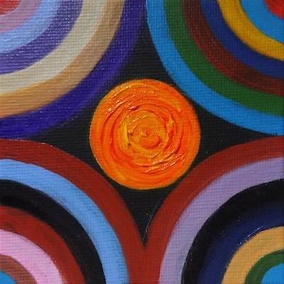 """4072 - My Inner Circle - Mini Master"" original fine art by Sea Dean"