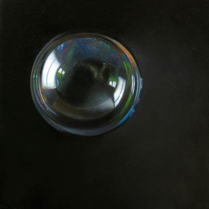 """""""Bubble 6x6"""" original fine art by M Collier"""