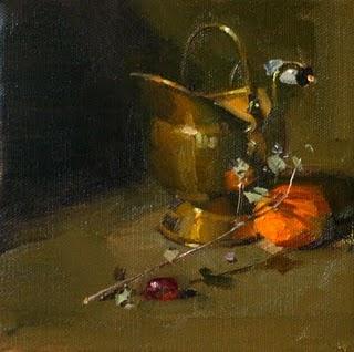 """Quiet Whispering"" original fine art by Qiang Huang"