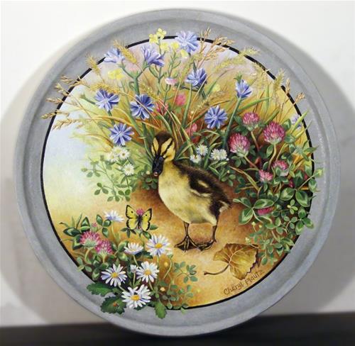 """""""Curious Duckling"""" original fine art by Cheryl Plautz"""