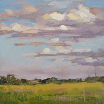 """""""Plein Air: Clouds Over Busse Woods"""" original fine art by Deb Anderson"""