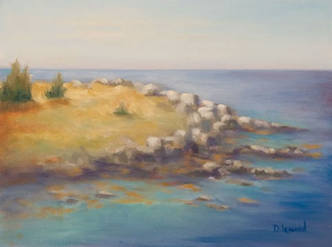 """Lobster Cove #1319"" original fine art by Dee Lessard"