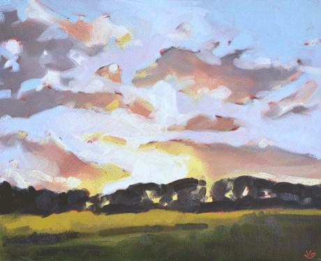 """Sunset"" original fine art by Jessica Green"