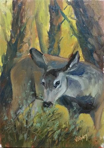 """Sunlight and Sage-study"" original fine art by Veronica Brown"