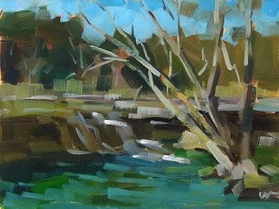 """Bull Creek --- SOLD"" original fine art by Carol Marine"