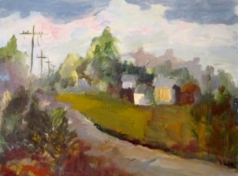 """Country Roads"" original fine art by Delilah Smith"