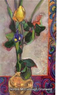 """""""Yellow Rose"""" original fine art by Deirdre McCullough Grunwald"""