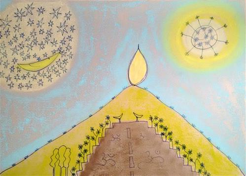 """""""Mountain of Light"""" original fine art by Adéla Svobodová"""