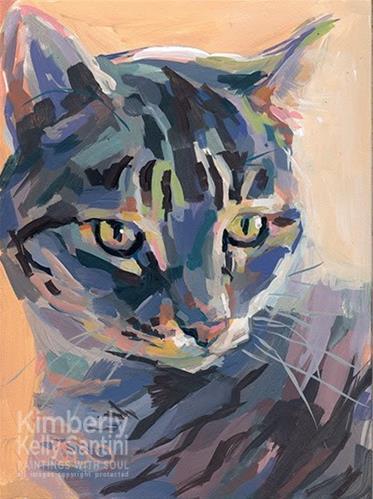 """Paige"" original fine art by Kimberly Santini"