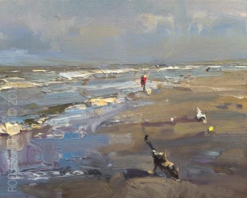 """Seascape Morning Light"" original fine art by Roos Schuring"