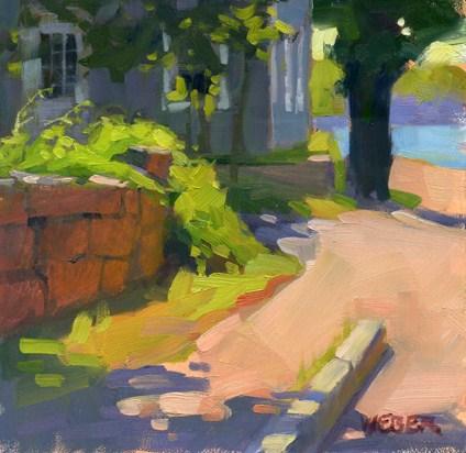 """Woods Hole"" original fine art by Kathy Weber"