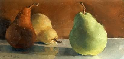 """Leading Pear"" original fine art by Michael Naples"