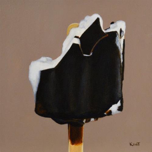 """Chocolate Covered Ice Cream 2"" original fine art by Kim Testone"