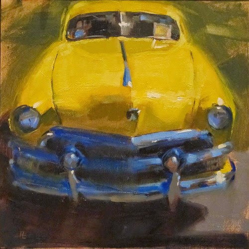 """CANARY"" original fine art by Helen Cooper"