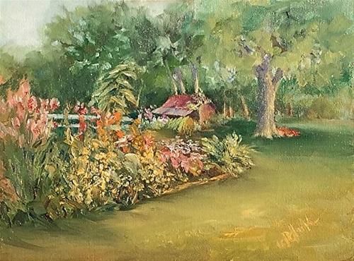 """""""Farm Memories, 9 x 12 Oil, Landscape"""" original fine art by Donna Pierce-Clark"""
