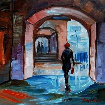 """""""stuttgart mitte"""" original fine art by Jurij Frey"""